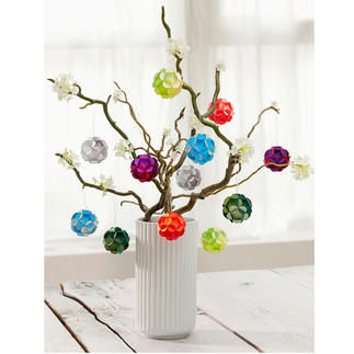 Blütenkugeln, 12er-Set Ein Blickfang das ganze Jahr: zauberhafte Blütenbälle in schimmernder Farbenpracht.