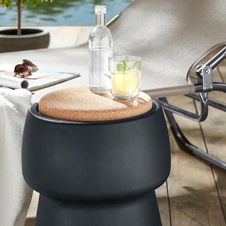 Champ stool/cooler Eleganter Hingucker. Bequemer Zusatz-Sitz. Und 15 l verborgener Stauraum.