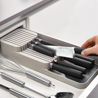Kompakter Messer-Organizer Clever und praktisch: die platzsparende 2-Stufen-Messerablage für die Schublade.