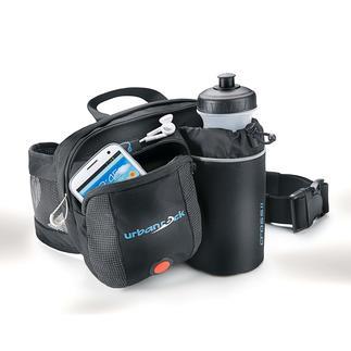 Hüfttasche mit LED-Sicherheitslicht Die Lösung, wenn die Hosentasche zu klein, aber der Rucksack zu groß ist.