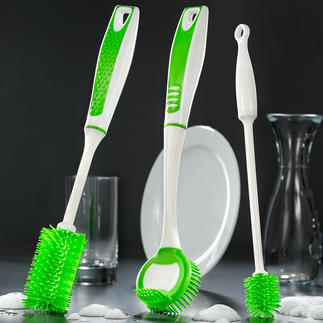 Silikon-Spülbürsten, 3er-Set Genau die richtige Spülbürste für große Töpfe, schlanke Karaffen, empfindliche Gläser, ...