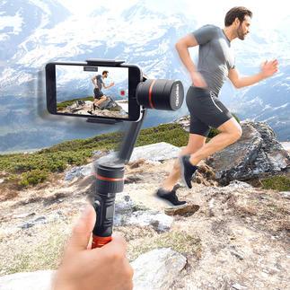Rollei Smartphone-Gimbal Wackelfreie Smartphone-Videos – aus der Hand gefilmt. Mit dem professionellen 3-Achsen-Gimbal von Rollei einfach wie nie.