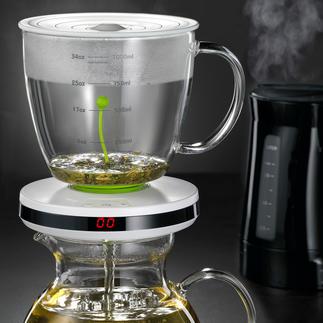 Teebereiter mit Ziehzeit-Automatik Intelligente Ziehzeit-Automatik brüht verschiedenste Teesorten punktgenau.
