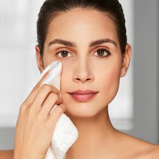 Beauty-Tuch aus Cellulose Make-up-Entfernung nur mit Wasser, ohne Chemie. Natürliche Cellulosefasern reinigen Ihre Haut sanft und gründlich.