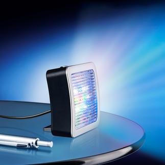 TV-Simulator Safe@Home 2.0 Jetzt noch besser: Mit extrahellen LEDs und 4 (statt 3) verschiedenen Lichtmodi. Und Nachtlicht. Und verstellbarem Standfuß ...