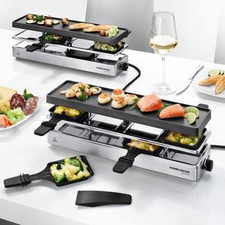 Kombi-Raclette Endlich ein Raclette-Grill auch für große Runden mit bis zu 12 Personen.