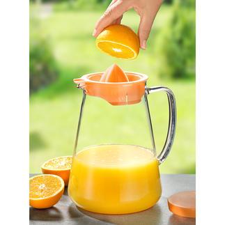 Glaskannen-Set Heiß & Kalt Elegante 2,5-l-Glaskanne serviert Heißes und Kaltes mit Stil. Inkl. Kühleinsatz, Teesieb, Zitruspresse und Deckel.