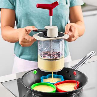Teig-Blitz Teigzutaten abmessen, mischen und exakt portionieren – genial einfach, sauber und schnell.