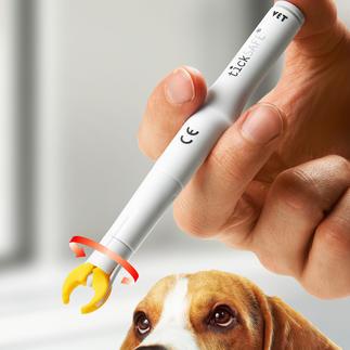 tickSAFE® Zeckengreifer Sanft, sicher, schmerzfrei. Der patentierte Zeckenentferner: greift, dreht und zieht – in einem Schritt.