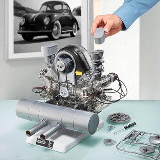 Bausatz Porsche 4-Zylinder Boxermotor 547 Mythos Porsche: der legendäre Carrera-Rennmotor Typ 547 als bewegliches 1:3-Modell.