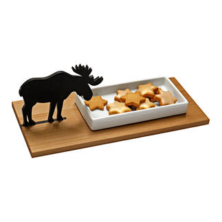 Elch-Gebäckschale oder Hasen-Kresseschale Fernab vom üblichen Weihnachts-Kitsch: Die zauberhafte Gebäckschale mit Elch-Silhouette.