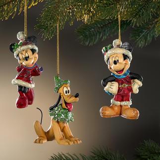 Disney Traditional Weihnachtsfiguren Handbemalte Folk-Art-Objekte des prämierten US-Künstlers Jim Shore.