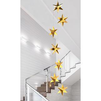 Mobile Sternentanz Schön, schlicht, zeitlos elegant: das Mobile mit Sternen aus plastisch gefaltetem Feinkarton. In jeder Größe anmutig leicht.