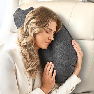 Aubergine Pillow Die perfekte Kombination aus Nacken-, Kopf-, Kuschel- und Rückenkissen.