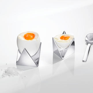 Alessi Eierbecher Roost Eierbecher? Skulptur? Reizvolles Verwirrspiel rund ums Ei. Von Alessi.