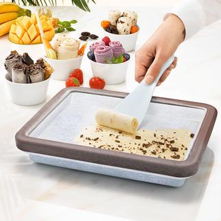 Rolled Ice-Kühlform Der Food-Trend des Sommers: zarte Eisröllchen – ganz einfach hausgemacht.