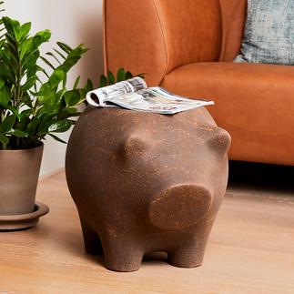 Beistellschwein Ablage und Skulptur in einem: das Beistellschwein zum Schmunzeln und Staunen.