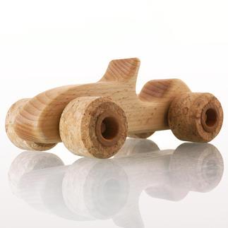Silent Roller Sporty Flüsterleiser Spaß für Groß und Klein: der Buchenholz-Flitzer mit echten Korkreifen.