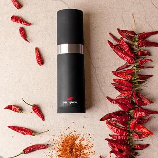 Microplane® Chilimühle Die bessere Chilimühle: schneidet bei jedem Dreh die gleiche Menge. Hauchfein.