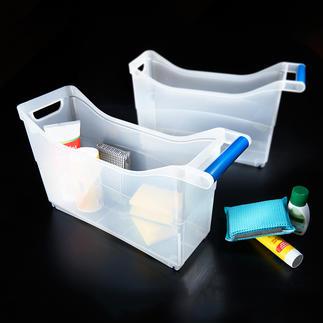 Schrank-Organizer, 6er-Set Genial vielseitige Rollboxen verwahren Ihre Utensilien gesammelt und griffbereit. Im ganzen Haus.