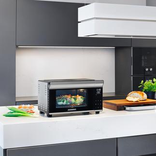 Bistro-Ofen mit Drehspieß Jetzt noch vielseitiger: mit Rôtisserie. Perfekt zum Braten, Grillen, Backen, Toasten, Auftauen, Erwärmen. In Minuten aufgeheizt. Spart Zeit und Energie.