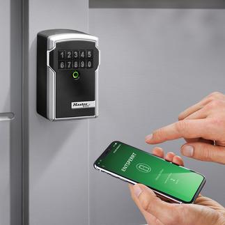 Elektronischer Schlüsseltresor Solide. Wetterfest. Und per App steuer- und kontrollierbar. Sogar von unterwegs.