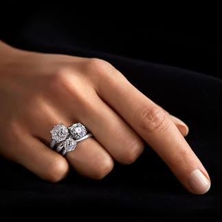 Diamantring Illusion-Setting Prachtvolle, echte Diamanten. Funkelnd wie ein 1-Karäter – zum Bruchteil des Preises.