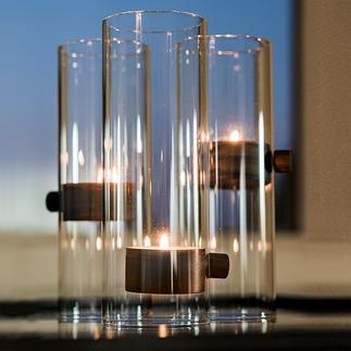 LiftTeelichthalterXL Überwindet scheinbar die Schwerkraft: das Windlicht mit schwebendem Kerzenschein.