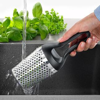 Rösle Kräuterdusche Gartenkräuter waschen, trocknen und hacken – schnell und einfach wie nie.