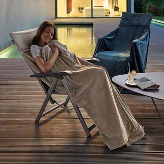 Fleece-Überwurf-/Decke Flaumweiches Fleece umhüllt Sie weich und wärmend wie ein Kokon. Ohne zu verrutschen.