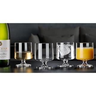 Holmegaard Design-Glas STUB, 4er-Set Im Retro-Trend: die Design-Gläser der 1950er. Vom dänischen Hoflieferanten Holmegaard seit 1825.