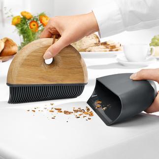 Sweep Tischkehr-Set Elegantes Kehrset in dänischem Design fegt Schmutz diskret und mit einem Wisch weg. Von trockenen und feuchten Oberflächen.