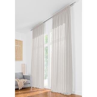 Vorhang Teide Soft  - 1 Stück Leinen-Look in außergewöhnlicher Leichtigkeit. Und ganze 3,25 Meter lang.