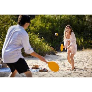 Handgefertigtes Beachball-Spiel Die Design-Variante des beliebten Beachball-Klassikers. Hochwertig handgefertigt in Spanien.