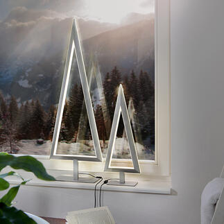 LED-Tannenbaum Puristisches Design: der Metall-Tannenbaum mit doppelt effektvoller LED-Leuchtkontur. Von Villeroy & Boch.