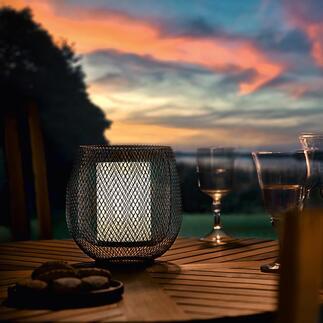Mesh-Leuchte Doppelwandig feines Drahtgitter verzaubert die Leuchte mit magischem Effekt. Kabellos für drinnen und draußen.