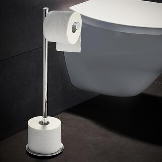 Toilettenbutler Toilettenpapier und Vorratsrollen – stilvoll und bequem zur Hand.