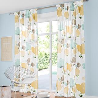 Vorhang Print Spue - 1 Stück Ein Blüten-Kunstwerk auf Stoff: Als Aquarell gemalt und digital gedruckt.