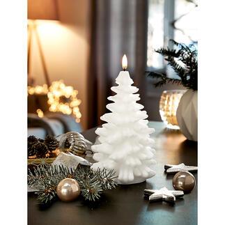 UYUNILighting LED-KerzeTannenbaum Die Tannenbaumkerze mit täuschend echter Flamme – inszeniert von 12 Mikro-LEDs.