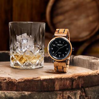 HerrenuhrausWhiskyfässern Jede ein unverwechselbares Einzelstück. Mit hochpräzisem, japanischem Hightech-Uhrwerk.