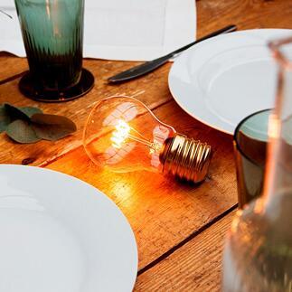 MagischeFilament-Glühbirne Die pure Schönheit klassischer Glühbirnen – kabellos, mit moderner LED-Technik.