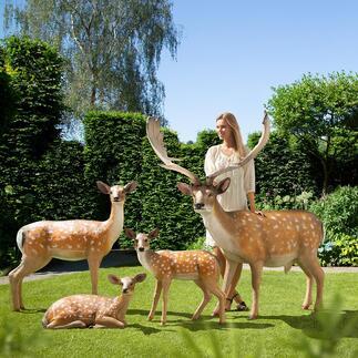 Damwildrudel Wie soeben dem Wald entsprungen: das Damwildrudel in Lebensgröße. Täuschend echt – nur nicht so scheu. Verwandelt Ihren Garten in ein elegantes Wildgehege.