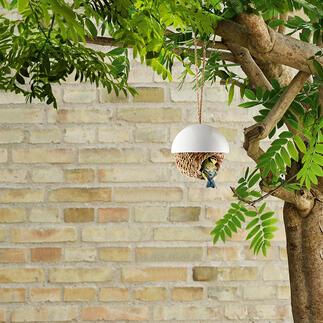 Vogelnest Fix und fertig für den Einzug: das handgeflochtene Binsennest für Meisen & Co. Einfach an einen geschützten Platz zu hängen.