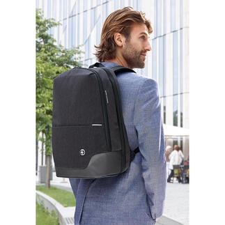 TakeCareRucksack Business-Rucksack neuester Generation: antibakteriell, RFID-geschützt, stylish und smart.