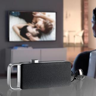 TV-HörverstärkerOSKAR Eine Wohltat beim Fernsehen: der TV-Hörverstärker neuester Generation. Optimale Sprachverständlichkeit und klarer Klang.