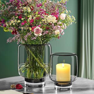Glas-Windlicht2-in-1 Heute Windlicht. Morgen Vase. Elegant und platzsparend: das Multitalent von Philippi. Jedes Glas ein Unikat.