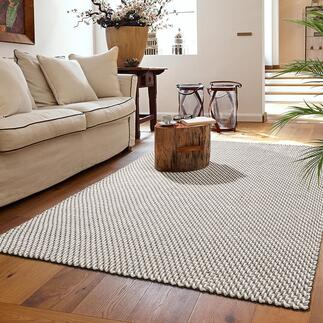 Kordel-Teppich Der Teppich im trendigen Kordeldesign: edel im Wohnraum. Komfortabel und robust auf Ihrer Terrasse. Handgewebt. 100 %ig outdoortauglich.