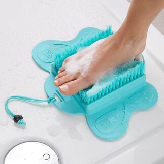 Fußpflege-Bürste Saubere und seidenglatte Füße, ohne Bücken und Verrenken. Für Dusche und Badewanne. Mit Saugnäpfen bequem zu fixieren.