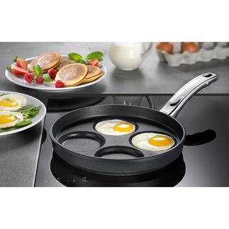 BAFFischbach Muldenpfanne Pancakes, Spiegeleier, Tortillas, ... gleich groß, gleich dick und makellos rund. 4 Stück zugleich. Premium-Qualität von BAF Fischbach, Deutschland.