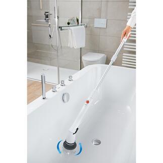 Elektrische Reinigungsbürste Ruck-zuck: strahlender Glanz und hygienische Sauberkeit. Ohne Schrubben. Ohne Bücken.